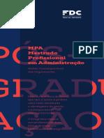 Mestrado ADM Fundação Dom Cabral