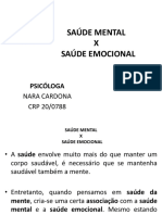 saúde Mental x Saude Emocional