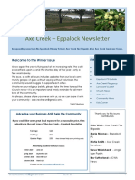 Axe Creek – Eppalock Newsletter Issue 63