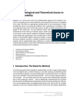 2. Methodological and Theoretical Issues in Multimodality