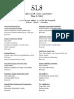 sl8 presentation menu