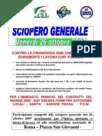 Volantino sciopero 26 10 2007