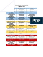 Escala Mensal Para Guardas 2019-1