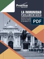 Inmunidad Parlamentaria. Breve Análisis de Esta Prerrogativa Constitucional