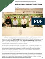 13-05-2019 Héctor Astudillo encabeza la primera sesión del Consejo Estatal Forestal de Guerrero.
