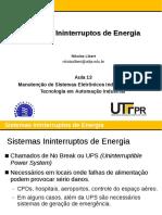 Aula 13 - Sistemas Ininterruptos de Energia