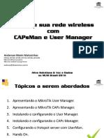 Gerencie Sua Rede Wireless Com CAPsMan e User Manager - PDF