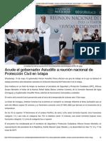 15-05-2019 Acude el Gobernador Astudillo a reunión nacional de Protección Civil en Ixtapa.