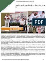 15-05-2019 Reconocen gobernador y dirigente de la Sección 14 a maestros del SNTE.