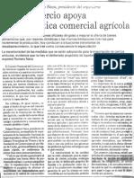 Edgard Romero Nava - Consecomercio Apoya Nueva Politica Comercial Agricola - El Universal 16.06.1990