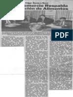 Edgard Romero Nava - Consecomercio Respalda importacion de alimentos - El Carabobeño 16.06.1990