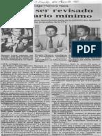 Edgard Romero Nava - Debe Ser Revisado El Salario Minimo - El Siglo 25.08.1990