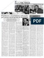 Edgard Romero Nava - El Gobierno y El Parlamento Enfrentados Por Retraso Del Programa de Inversiones - El Impulso 18.06.1990