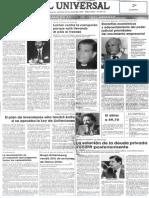Edgard Romero Nava - El Plan de Inversiones Solo Tendra Exito Si Se Aprueba Ley de Licitaciones - Primera Pagina El UNiversal 20.07.1990