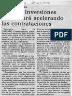Edgard Romero Nava - Plan de Inversiones Funcionara Acelarando Las Contrataciones - Diario Frontera 20.07.1990