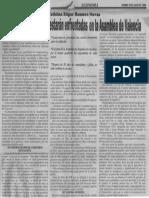 Edgard Romero Nava - Reformas Sectoriales Estaran Enfrentadas en La Asamblea de Valencia - Notitarde 20.07.1990