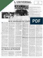 Edgard Romero Nava - Satisfecho El Empresariado Por Discurso Del Presidente Perez - El Universal 23.07.1990
