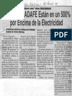 Edgard Romero Nava - Tarifas de Cadafe Estan en Un 500% Por Encima de La Electricidad - Ultimas Noticias 25.08.1990