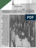 Fedecamaras Se Reunio Con La CTV y El Gobierno - Seis Puntos de Acuerdo - El Universal 14.06.1990