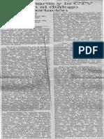 Fedecamaras y La CTV Exhortan Al Dialogo y La Concertacion - El Nacional 21.06.1990