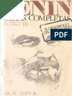 Lenin - Obras Completas - V. 3 - El Desarrollo Del Capitalismo en Rusia (1896 - 1899)