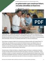 20-05-2019 Héctor Astudillo, un gobernador que construye futuro. Suma 2,400 escuelas atendidas en Guerrero.