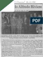 Sociales - Agasajado Alfredo Riviere - El Universal 30.07.1990