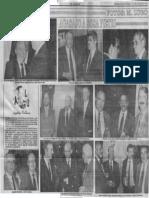 Sociales - Agasajo a Andres Sosa Pierti - El Mundo 11.07.1990