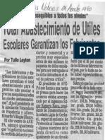 Total Abastecimiento de Utiles Escolares Garantizas Los Fabricantes - Ultimas Noticias 04.08.1990