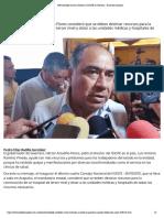 20-05-2019 Pide Astudillo mayor inversión al ISSSTE en Guerrero.