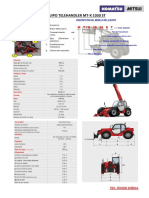 Especificaciones Tecnicas Telehandler Mtx 1030 MANITOU