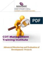 Advanced Monitoring and Evaluation of Development Projects