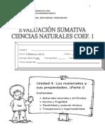 Evaluación Sumativa c.n Unidad 4, Parte 1...2013