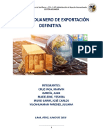 Régimen Aduanero de Exportación Definitiva