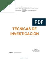 1 Tecnicas de Investigacion