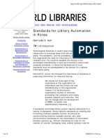 COREA Standards for Library Automation in Korea
