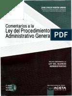 Ley 27444 Ley Del Procedimientoadministrativo General Comentada Juan Carlos Moron Urbina