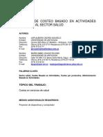 COSTOS ABC Servicios de Salud 057