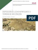 Disposición de Lecho Nitrificante o Terreno de Infiltración - Eternit Tanques