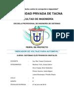 Perfil de Proyecto Indicador de Voltaje Para Automóvil