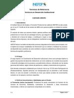 TDR - Técnico en Desarrollo Institucional