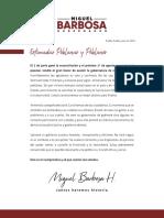Carta Miguel Barbosa