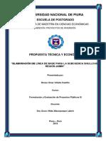 Trabajo Individual de Formulación y Evaluación de Proyectos Públicos III