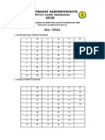 2018 Kunci Jawaban KSM