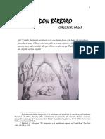 DON BÁRBARO Carlos Luis Fallas (1960) Presenta el profesor Ronal Vargas Araya