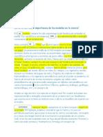 Características e importancia de los modelos en la ciencia1