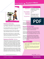 toy story reader-teacher's guide and activities with key