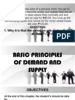 Basic Principles of Demand and Supply