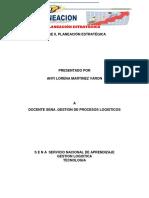 Desarrollo Evidencia 6 Ll Planeacion Estrategicas