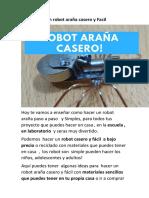 Experimentos robot casero